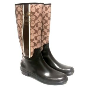 Coach Classic Pammie Rain Boots Size 7